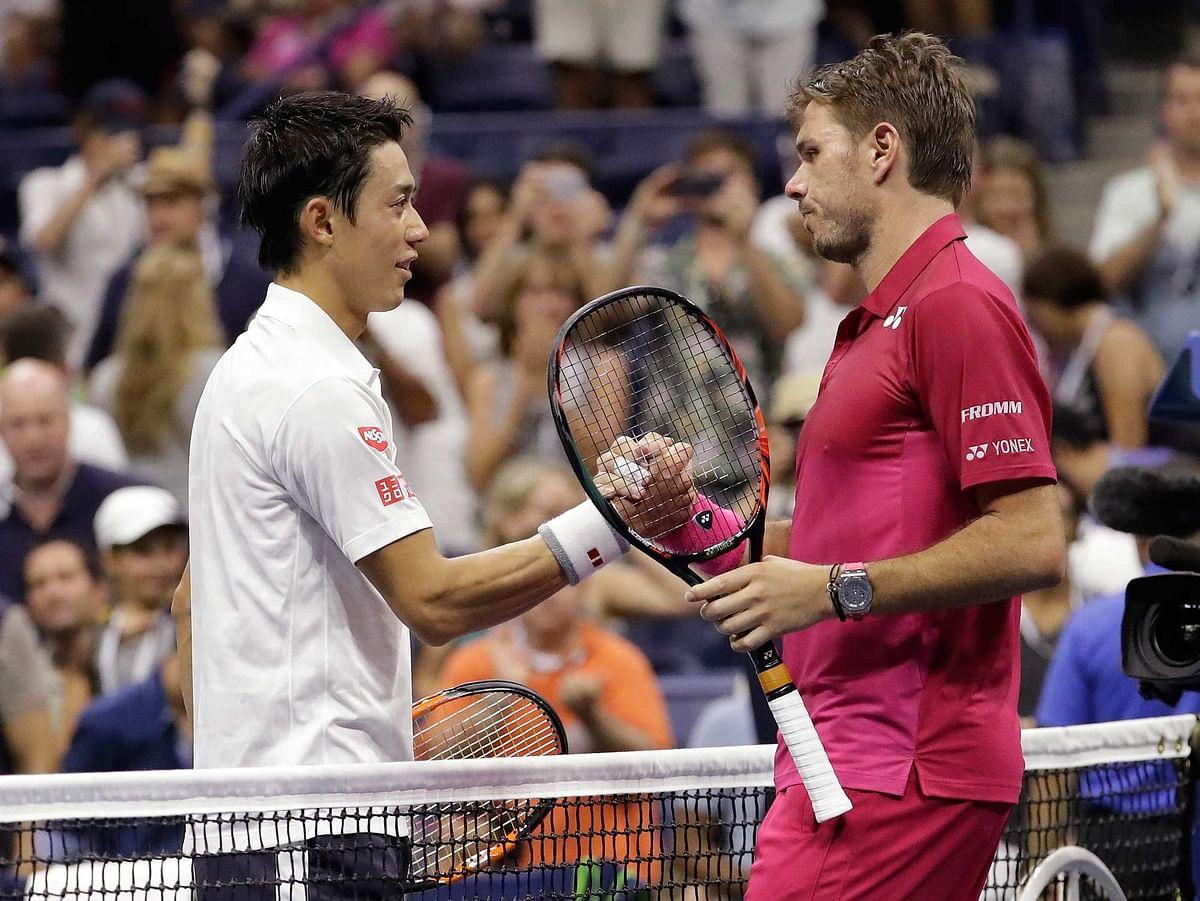 Stan Wawrinka beat Kei Nishikori 4-6 7-5 6-4 6-2 in the men's semi-final. (Photo: AP)