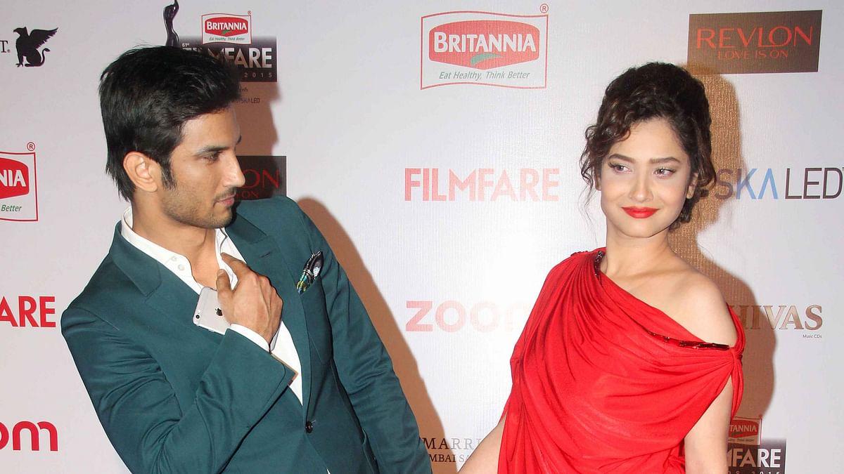 Ankita Lokhande with ex beau Sushant Singh Rajput. (Photo: Yogen Shah)