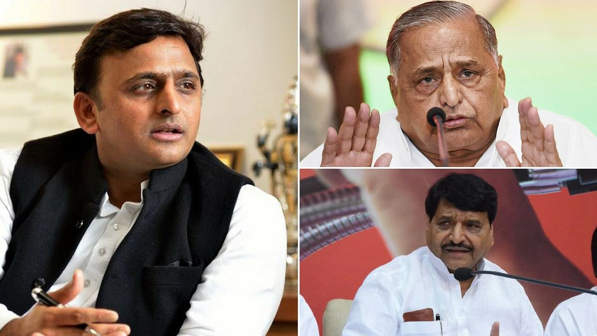 Uttar Pradesh Chief Minister Akhilesh Yadav stripped his uncle Shivpal of key ministries on Tuesday. (Photo: <b>The Quint</b>)