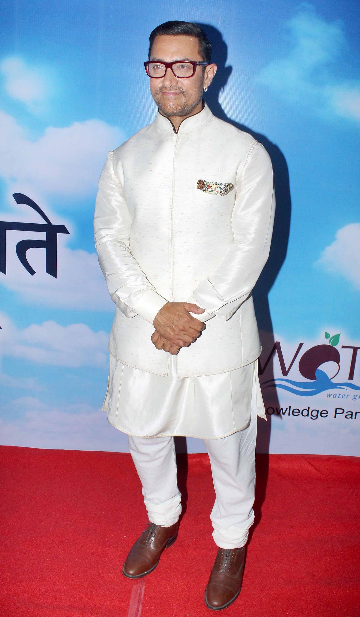 Aamir Khan at an event. (Photo: Yogen Shah)