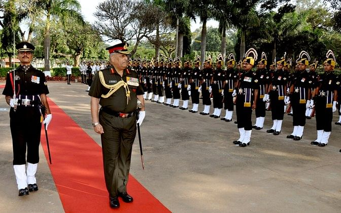 Indian Army servicemen during a ceremony. (Photo: IANS)