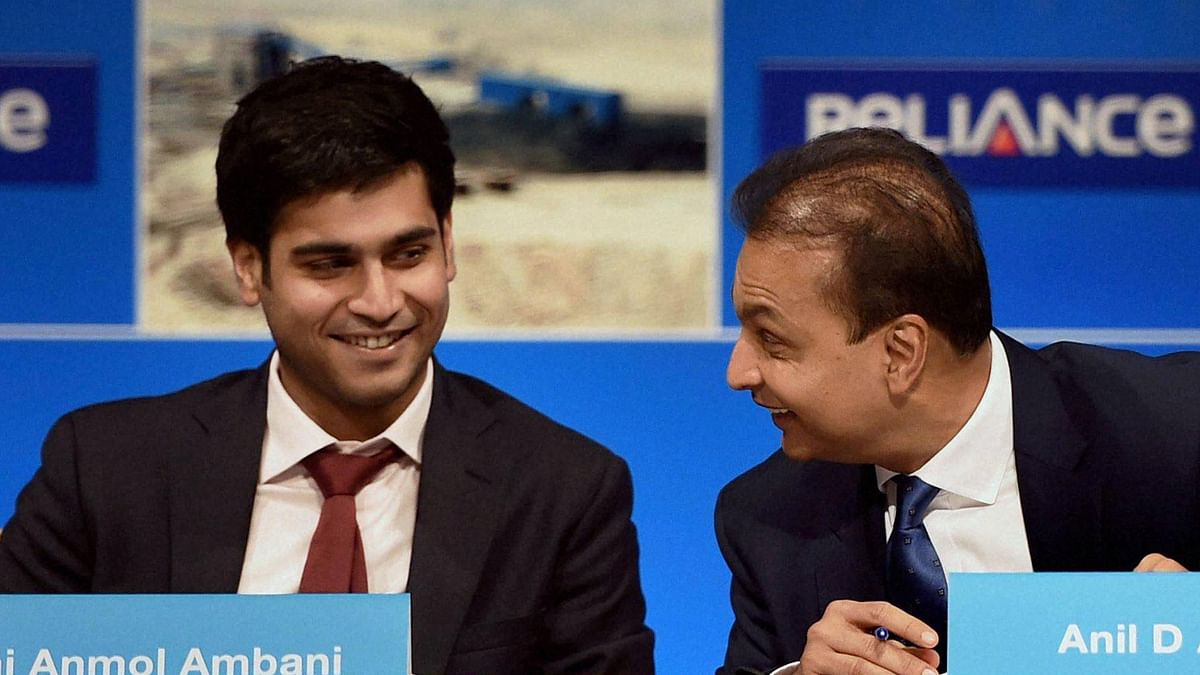 File photo of Chairman Reliance Infrastructure Anil Ambani and his son Jai Anmol Ambani.