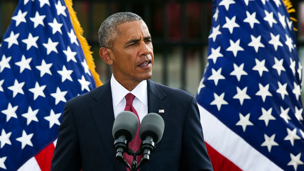 President Barack Obama speaking at the 9/11 memorial observance ceremony at the Pentagon. (Photo: AP)
