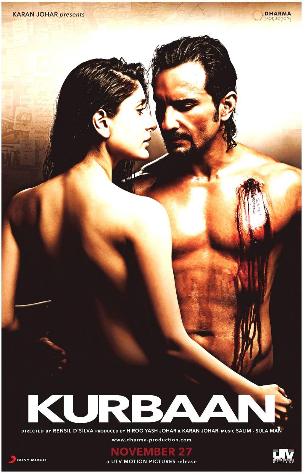 The official poster of Rensil D'Silva's <i>Kurbaan. </i>(Photo Courtesy: UTV Motion Pictures)