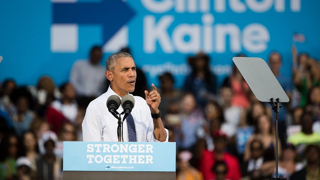 President Barack Obama addresses a campaign event for Democratic presidential candidate Hillary Clinton. (Photo: AP)