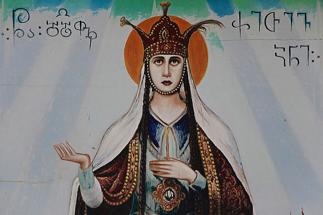 """An illustration of Queen Ketevan of Georgia, often hailed as 'Ketevan the Martyr'. (Photo Courtesy: <a href=""""https://www.flickr.com/photos/90280098@N05/8232247869/"""">Flickr</a>/Tamara Romanchuk)"""