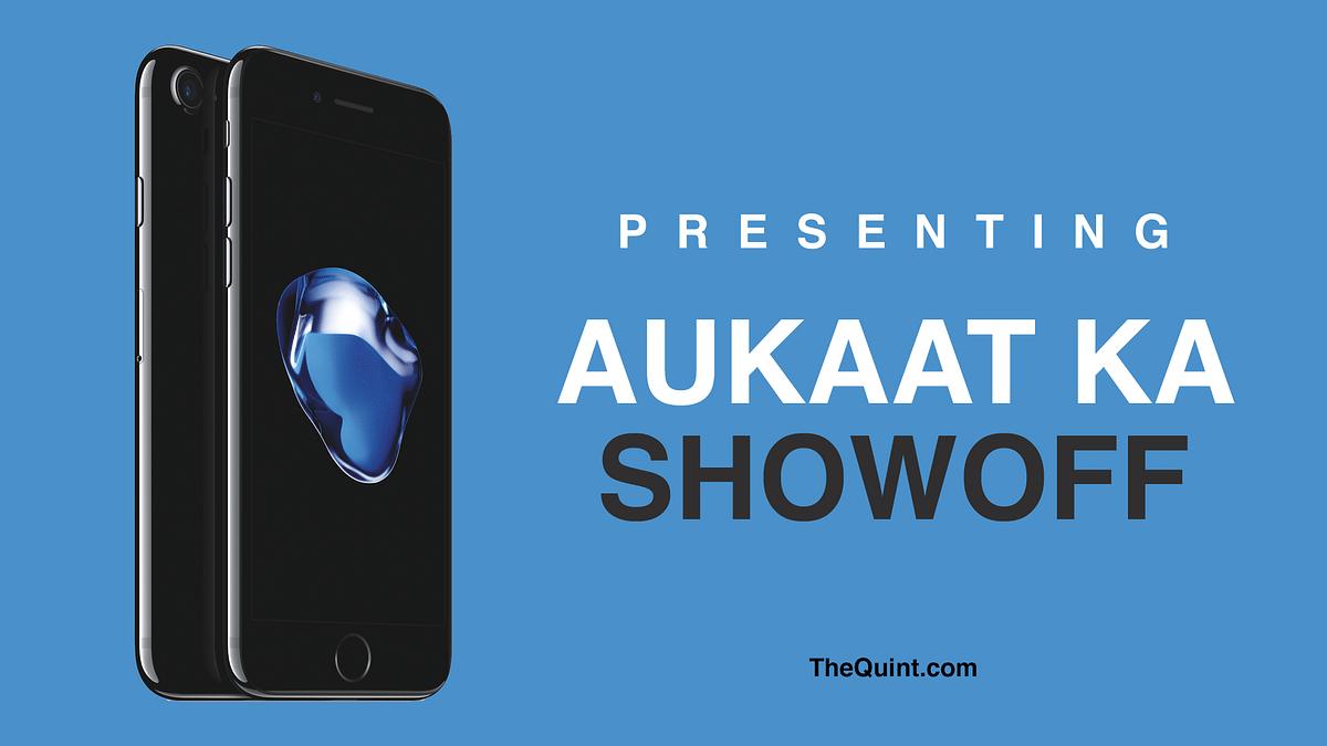Aukaat ka show-off? Honest Apple advertisement is here! (Photo: Aaqib Raza Khan/<b>TheQuint</b>)