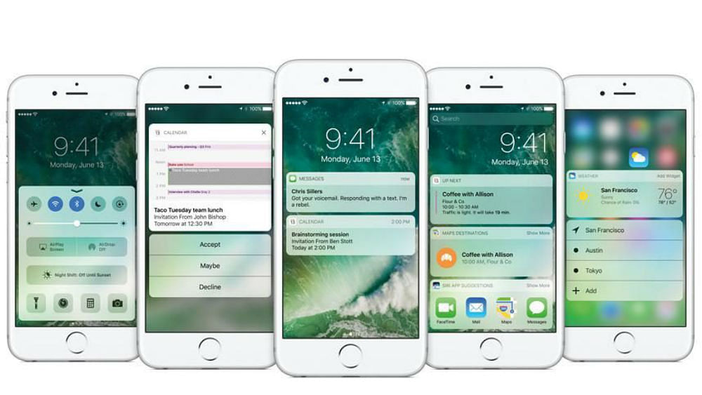 iOS 10 offers more lock screen options. (Photo Courtesy: Apple)