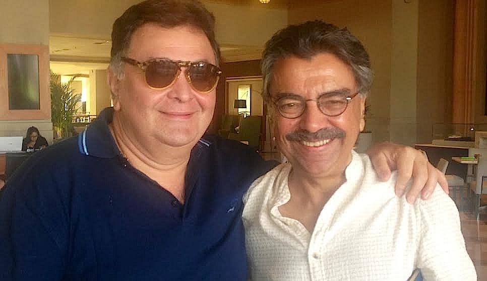 Rishi Kapoor with Khalid Mohamed.