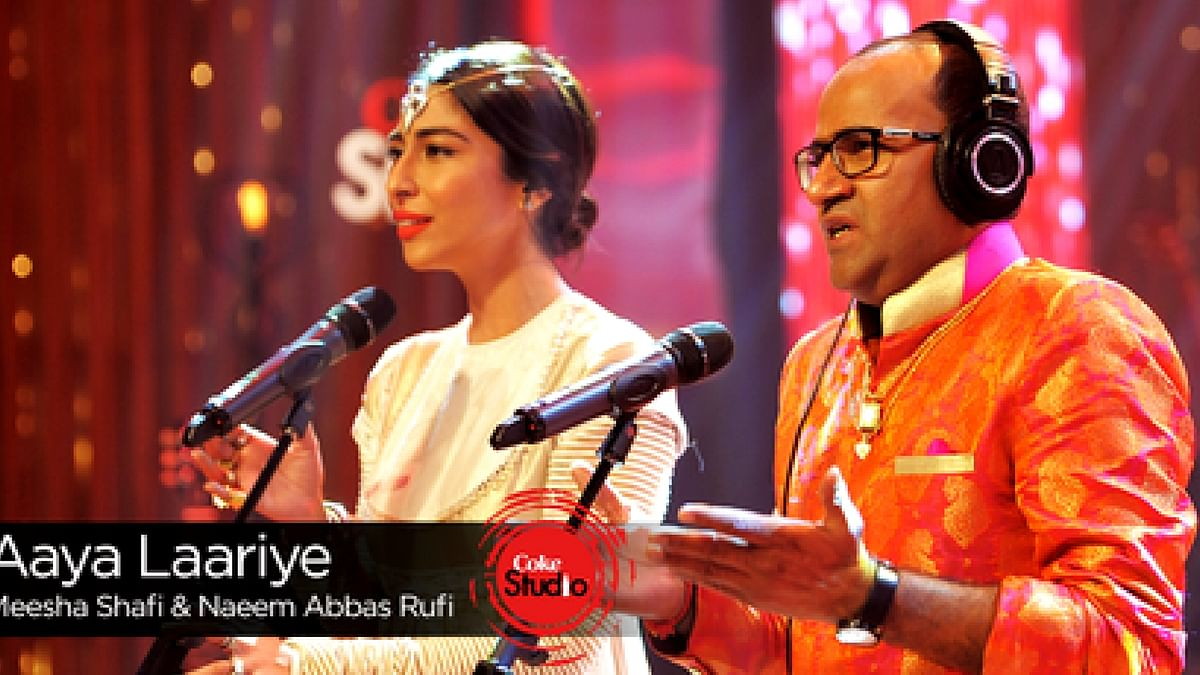 Misha Shafi and Naeem Abbas Rufi during the performance. (Photo courtesy: YouTube grab)