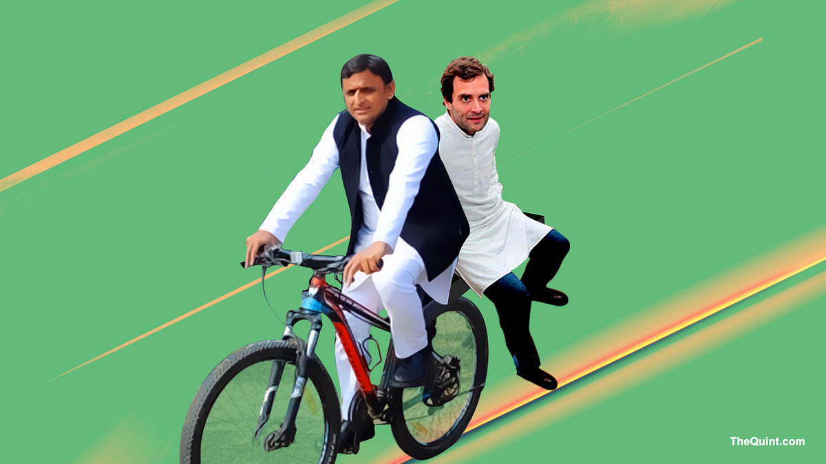 Will an SP-Congress alliance in UP shatter the BJP's dreams of coming to power in the heartland state? (Photo: Hardeep Singh/<b>The Quint</b>)