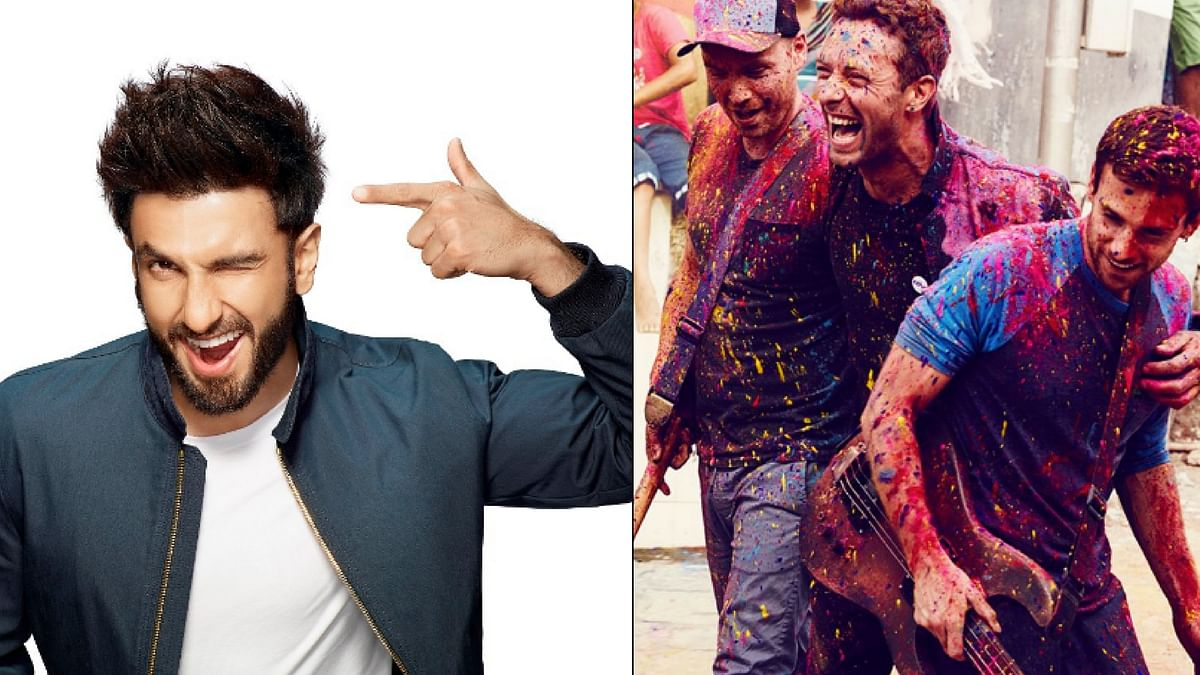 """Ranveer Singh would be performing with Coldplay in Mumbai. (Photo Courtesy: Twitter/<a href=""""https://twitter.com/raghuvendras"""">@raghuvendras</a>/<a href=""""https://twitter.com/emzeye"""">@emzeye</a>)"""