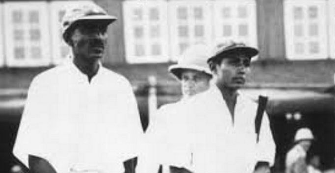 """He is also the first Indian to score a Test hundred on his debut. (Photo Courtesy: Twitter/<a href=""""https://twitter.com/ambrishgupta11"""">@ambrishgupta11</a>)"""