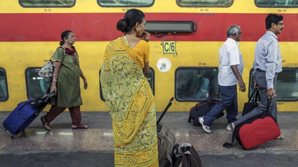 Passengers walk along the platform at the Mumbai Central Station. (Photo: Bloomberg Quint)