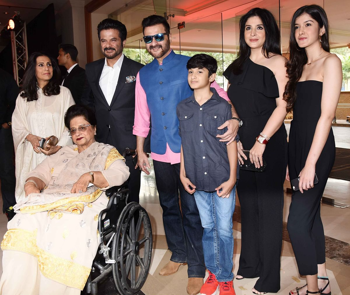 Anil Kapoor's brother Sanjay Kapoor was also present with his  family. (Photo: Yogen Shah)