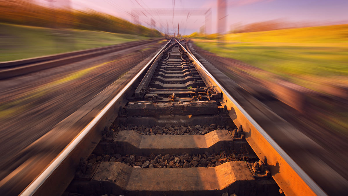 Representation image of a railway track.
