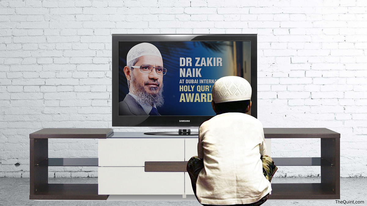 Naik's Peace TV, which airs the televangelist's controversial speeches, has come under attack too. (Photo: Lijumol Joseph/ <b>The Quint</b>)  &nbsp;