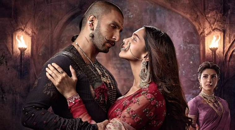 Ranveer Singh, Deepika Padukone and Priyanka Chopra in the film poster of Sanjay Leela Bhansali's <i>Bajirao Mastani.</i> (Photo courtesy: EROS Now)
