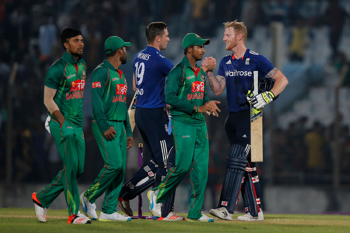 Ben Stokes and Chris Woakes were instrumental in England's win over Bangladesh in the third and final One Dayer of the series. (Photo: AP)