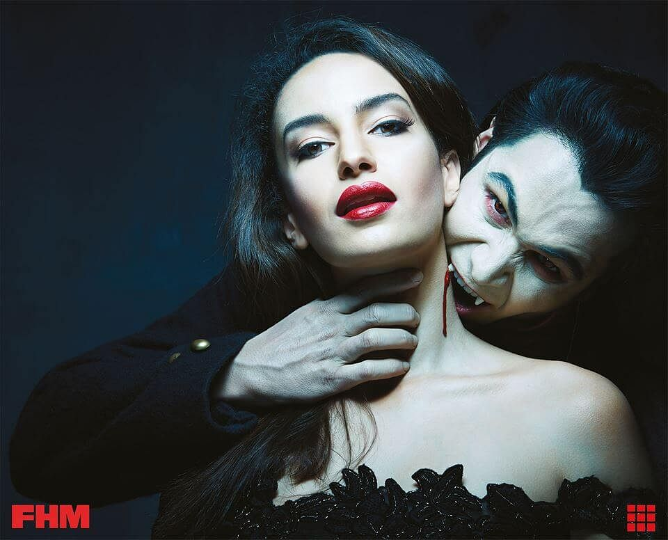 Emraan Hashmi as Aro with Elena Fernandes. (Photo courtesy: Twitter)