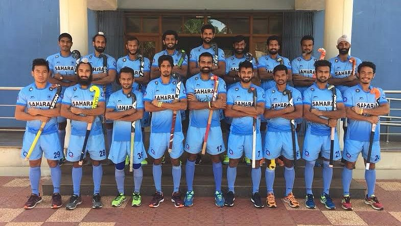 The Indian hockey squad poses for a photograph ahead of the Asian Champions Trophy. (Photo: Hockey India)