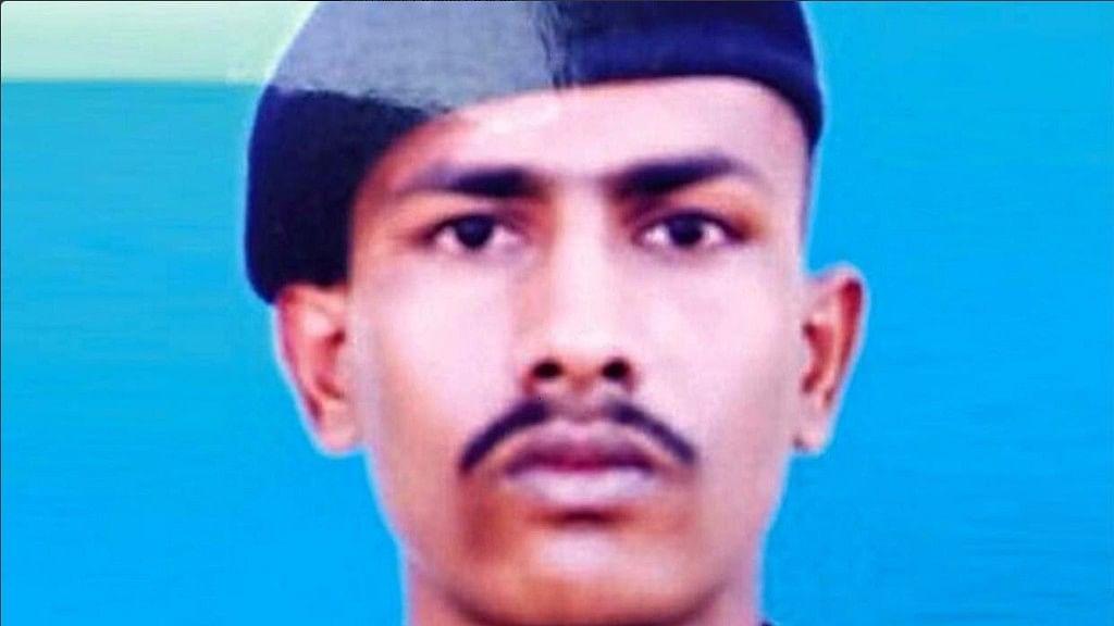 "Chandu Chavan belonged to the 37 Rashtriya Rifle. (Photo Courtesy: Twitter/<a href=""https://twitter.com/ireddy_sona"">@ireddy_sona</a>)"