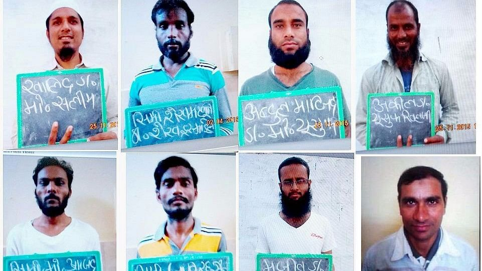 The eight alleged SIMI members who were killed in an encounter by MP police. (Photo: <b>The Quint</b>/Anant Maheshwari)