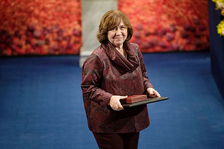 "Svetlana Alexievich, a Belarusian investigative journalist and non-fiction prose writer, won the Nobel Prize for Literature in 2015. (Photo: <a href=""https://www.nobelprize.org/"">nobelprize.org</a>)"