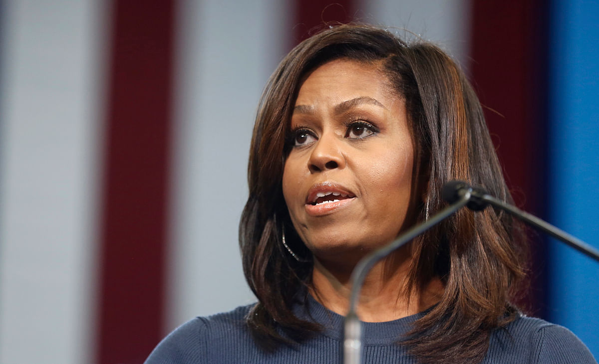 Mrs Obama said that comments were forcing women to recollect painful memories of when they were harassed in their offices or sexually assaulted. (Photo: AP)