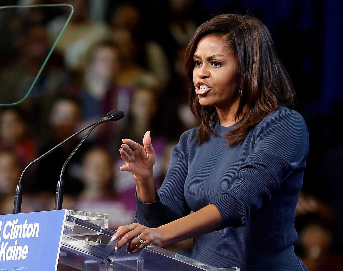 First lady Michelle Obama speaks during a campaign rally for Democratic presidential candidate Hillary Clinton. (Photo: AP)