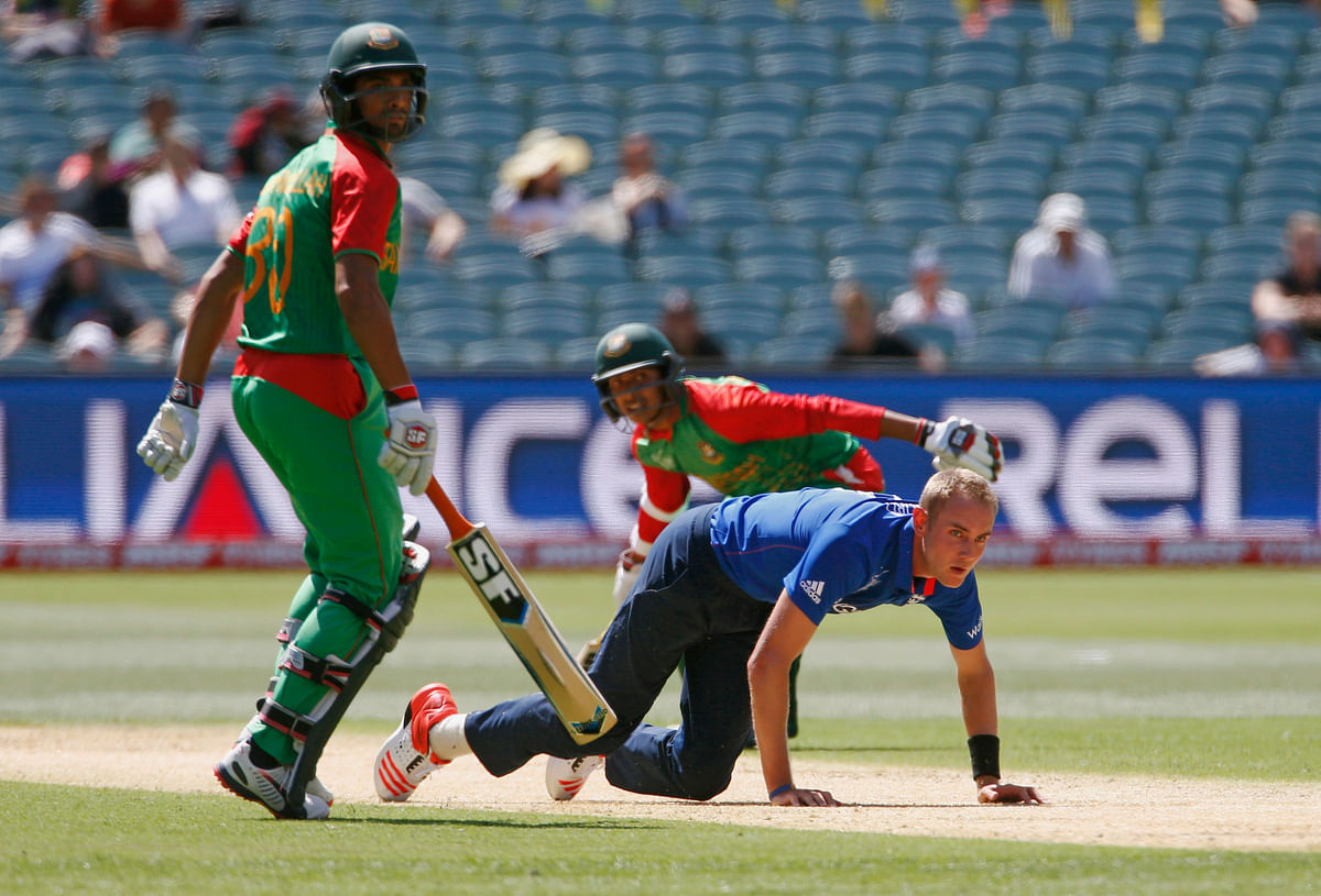 England was defeated by Bangladesh in the pre-quarterfinal stage in the 2015 ICC Cricket World Cup. (Photo: Reuters)