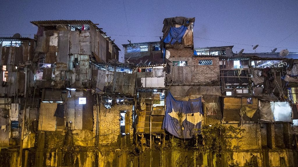 Windows of various shanties in Dharavi, one of Asia's largest slums, are seen in Mumbai. (Photo: Reuters)