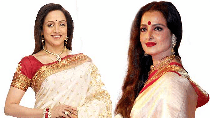 """(Photo Courtesy: Twitter/<a href=""""https://twitter.com/search?f=images&amp;vertical=default&amp;q=rekha%20hema%20malini&amp;src=typd"""">GreatLife</a>)"""