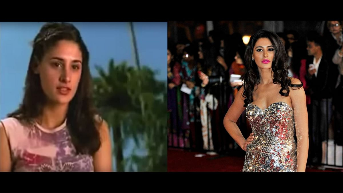 Nargis Fakhri then (L) and now (R). (Photos: YouTube / Reuters)