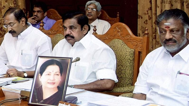 Tamil Nadu Finance Minister O Panneerselvam on Wednesday presided over a meeting of the state cabinet. (Photo: PTI)