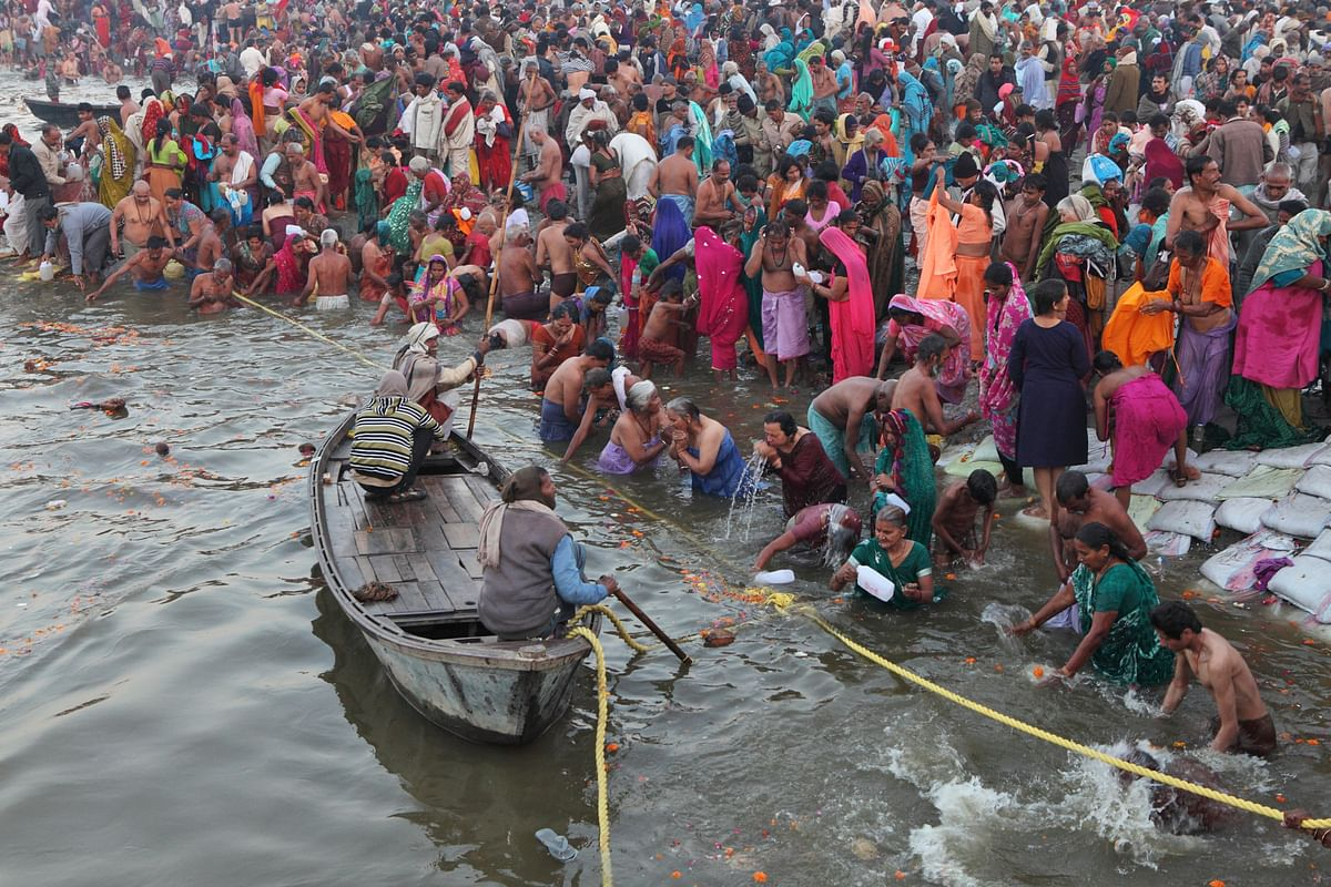 Devotees throng the river due for a religious festival. Representational Image. (Photo: iStock)