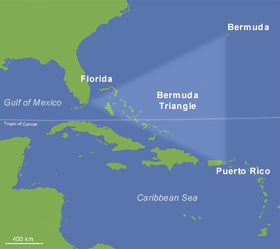 The Bermuda Triangle. (Photo Courtesy: Wikipedia)