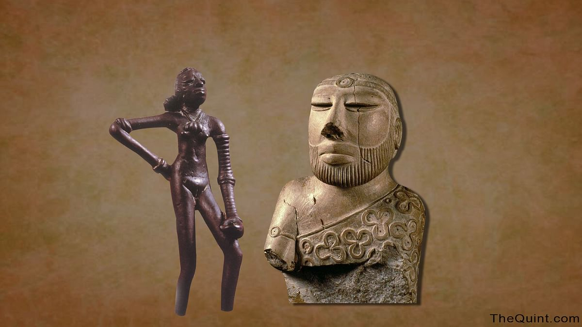 The Dancing Girl (left) and the Priest king (Right) are synonymous with the Harappan Civilization. (Photo: <b>The Quint</b>)