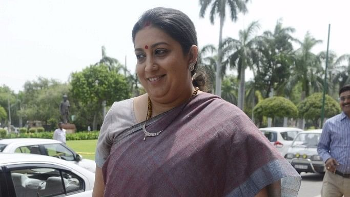 File photo of I&B Minister Smriti Irani.