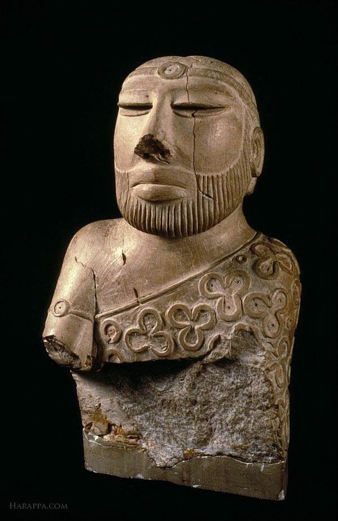"""The Priest King, one of the artefacts which is in Pakistan. (Photo Courtesy: Facebook/<a href=""""https://www.facebook.com/AncientIndus/"""">@AncientIndus</a>)"""