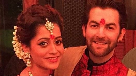 Neil Nitin Mukesh with his    fiancé Rukmini Sahay. (Photo Courtesy: Twitter)