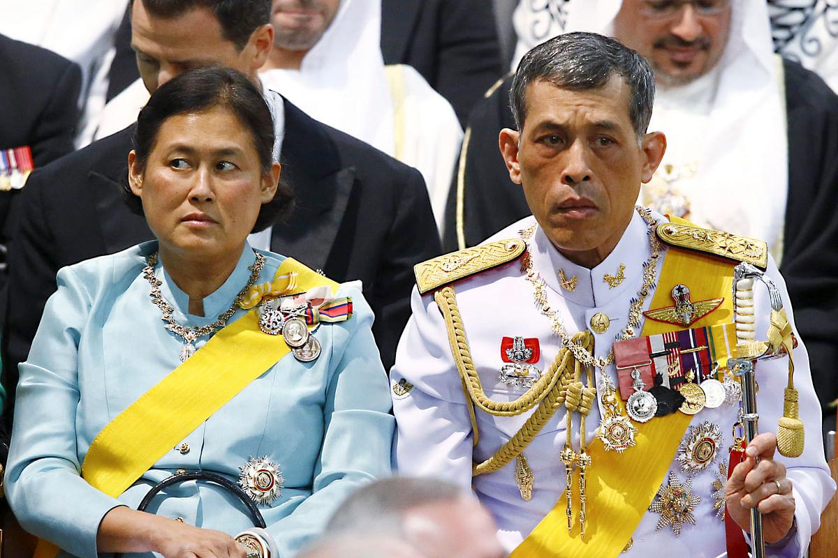 Crown Prince Vajiralongkorn (right) is the King's heir. (Photo: AP)