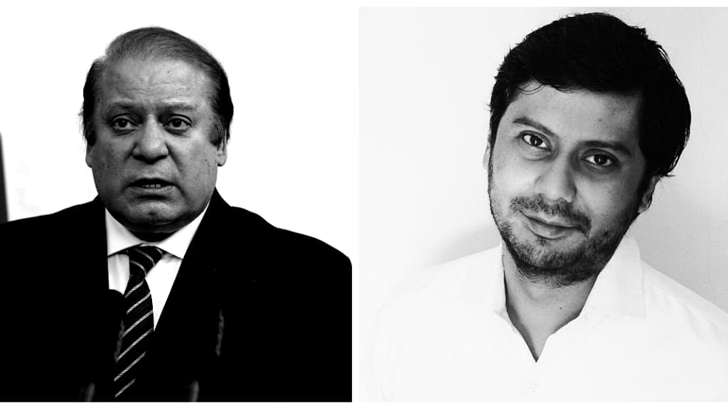 Pakistan's PM Nawaz Sharif and <i>Dawn</i> Journalist Cyril Almeida. (Photos: Reuters/ Facebook/Cyril Almeida)