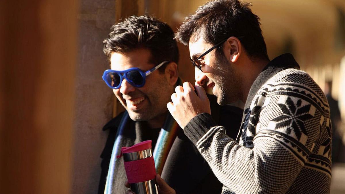 Karan Johar and Ranbir Kapoor on the sets of <i>Ae Dil Hai Mushkil. </i>(Photo courtesy: Twitter)