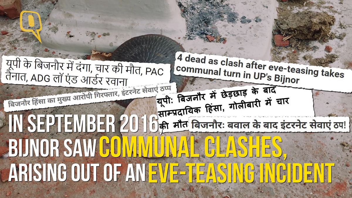 An eve-teasing incident led to a communal riot in Bijnor.