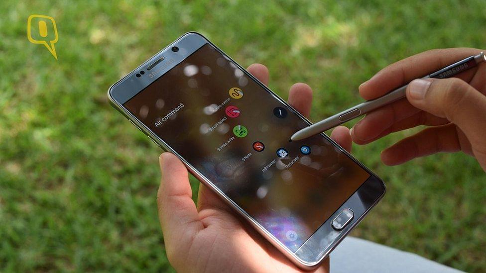 Samsung Galaxy Note 5. (Photo: <b>The Quint</b>)