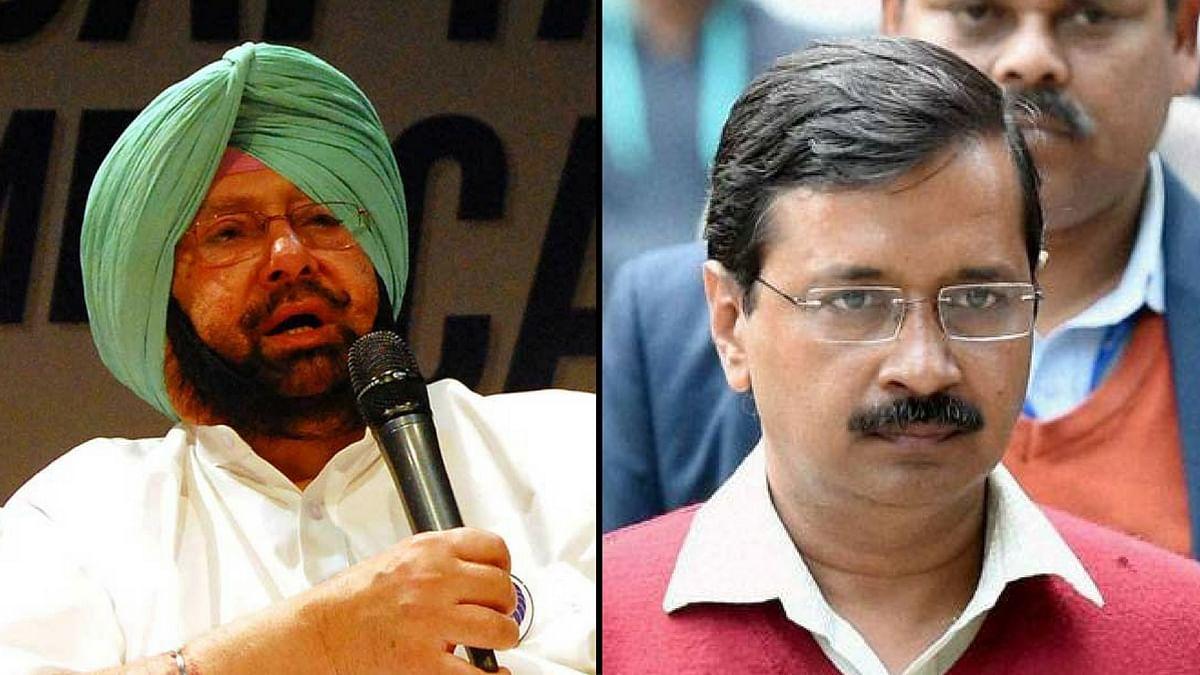 Punjab CM, Captain Amrinder Singh and Delhi CM, Arvind Kejriwal.