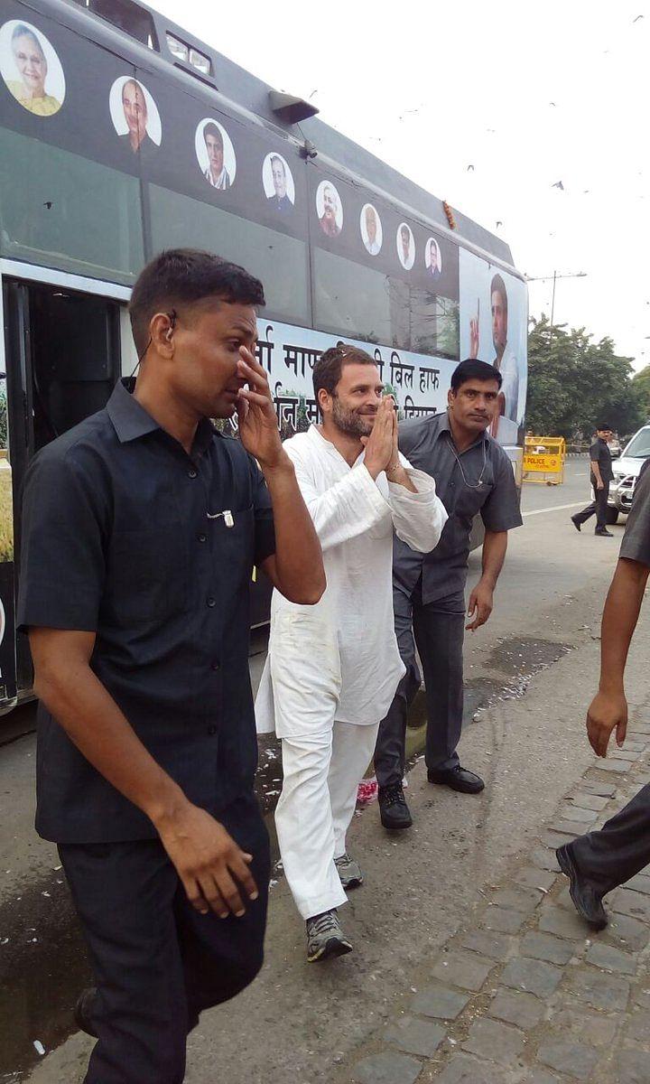 "Congress Vice-President Rahul Gandhi in New Delhi on Thursday, 6 October 2016. (Photo Courtesy: Twitter/<a href=""https://twitter.com/INCIndia/status/783982324627091456"">@OfficeofRG</a>)"