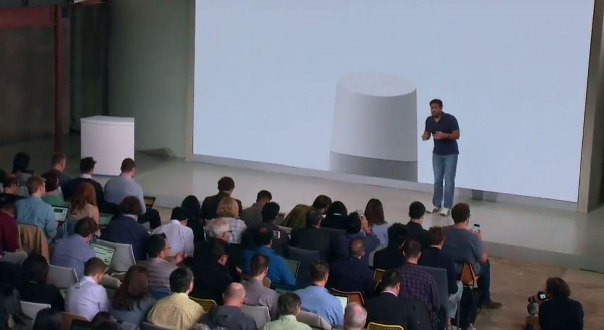 Rishi Chandra from Google interacting with Google Assistant via Google Home. (Photo: YouTube/Google)