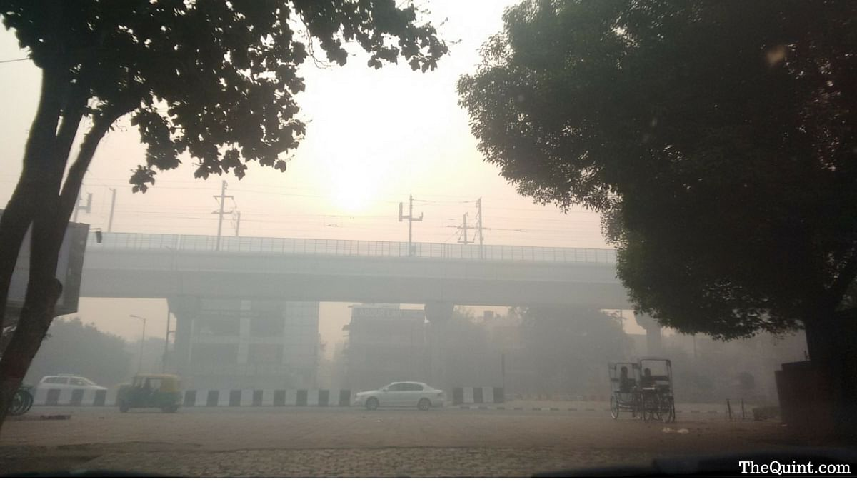 File image of heavy smog near in South Delhi. (Photo: <b>TheQuint</b>/Abhipsha Mahapatro)&nbsp;